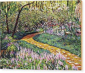 Deep Forest Garden Wood Print by David Lloyd Glover