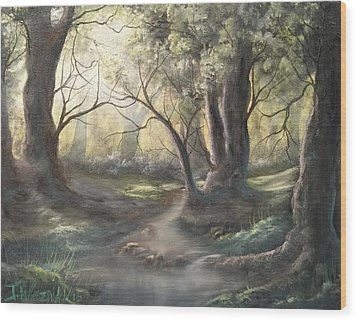 Deep Forest  Wood Print
