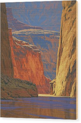 Deep In The Canyon Wood Print by Cody DeLong