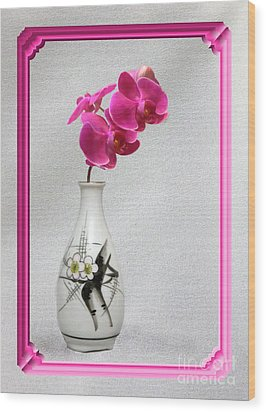 Wood Print featuring the photograph Deep Pink  Orchids by Linda Phelps