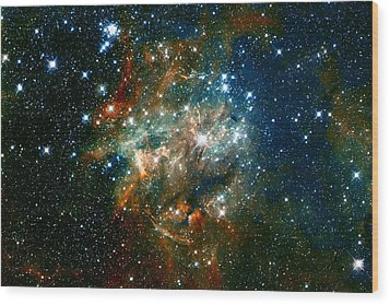Deep Space Star Cluster Wood Print