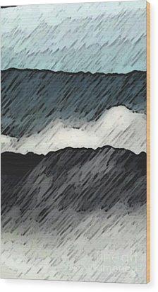 Deep Storm 1 Wood Print by EGiclee Digital Prints