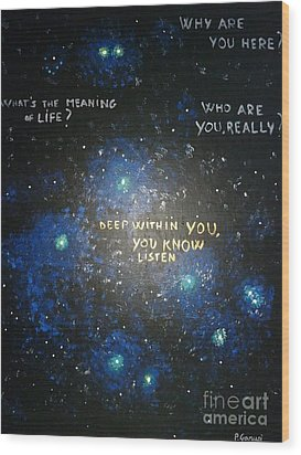 Deep Within You Wood Print by Piercarla Garusi