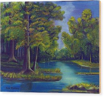 Deep Woods Wood Print by George Markiewicz
