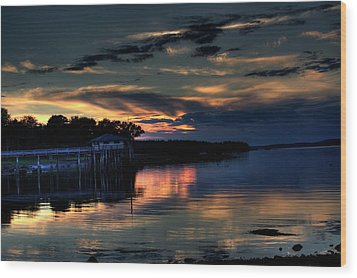 Wood Print featuring the photograph Deer Isle Sunset I by Greg DeBeck