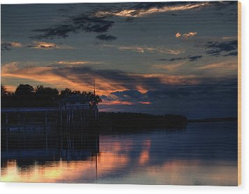 Wood Print featuring the photograph Deer Isle Sunset II by Greg DeBeck