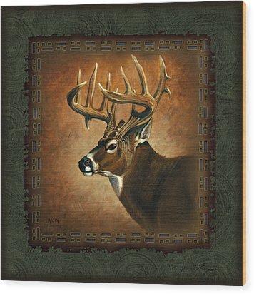 Deer Lodge Wood Print by JQ Licensing