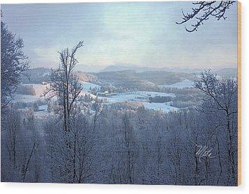 Deer Valley Winter View Wood Print by Meta Gatschenberger