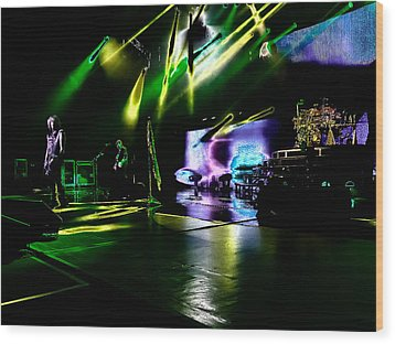 Def Leppard At Saratoga Springs 4 Wood Print by David Patterson