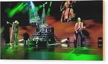Def Leppard On Stage Wood Print