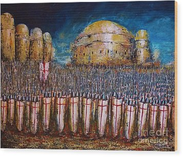 Defence Of Jerusalem Wood Print