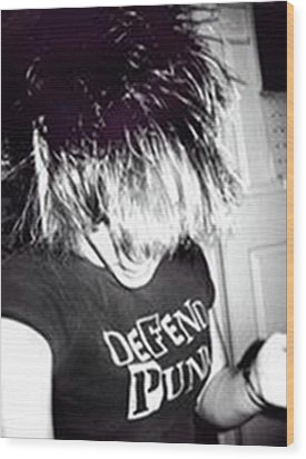 Wood Print featuring the photograph Defend Punk by Jane Autry