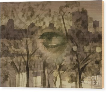 Deforestation Wood Print by Santanu Karmakar