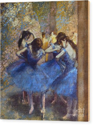 Degas: Blue Dancers, C1890 Wood Print by Granger