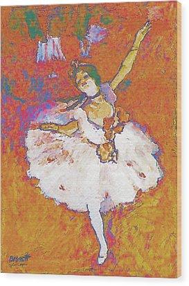 Degas Dancer Wood Print by Robert Bissett
