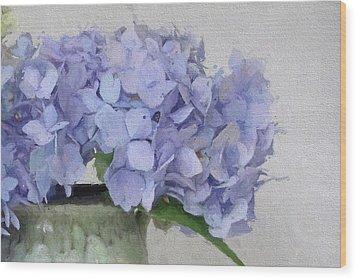 Degas Hydrangea Wood Print by Karen Lynch