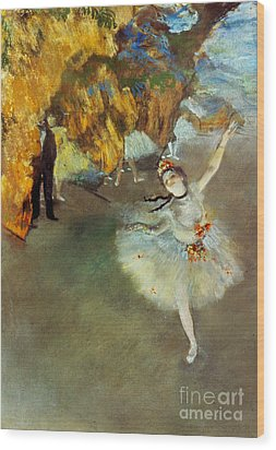 Degas: Star, 1876-77 Wood Print by Granger