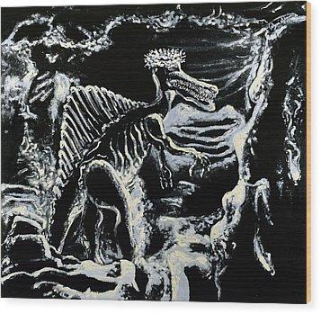 Deinos Sauros    Wood Print