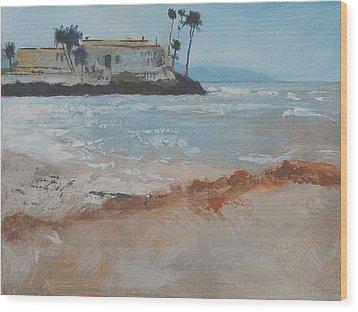 Del Mar Beach Wood Print by Robert Bissett