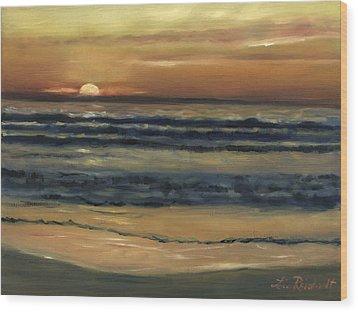 Del Mar Sunset Wood Print by Lisa Reinhardt