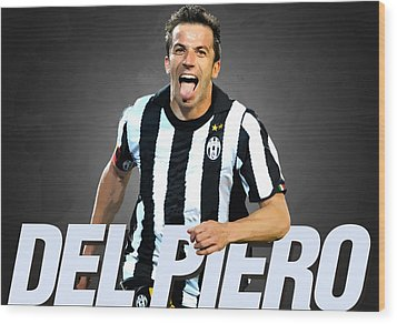 Del Piero Wood Print by Semih Yurdabak
