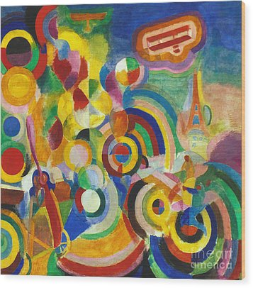 Delaunay: Hommage Bleriot Wood Print by Granger