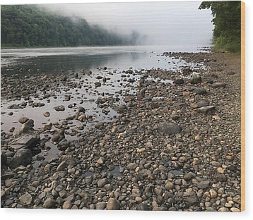 Wood Print featuring the photograph Delaware River Mist by Helen Harris