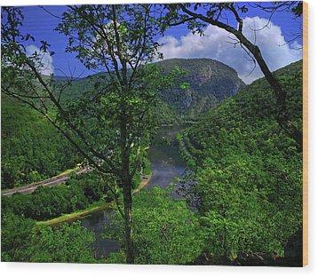 Delaware Water Gap Wood Print