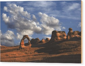 Delicate Arch In Arches National Park Wood Print by Utah Images