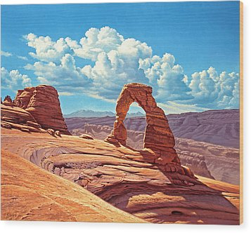 Delicate Arch Wood Print by Paul Krapf
