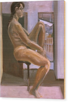 Delicate Balance Wood Print by John Clum
