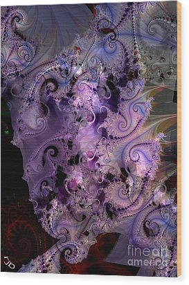 Delicate Lavender Forms Wood Print by Ron Bissett