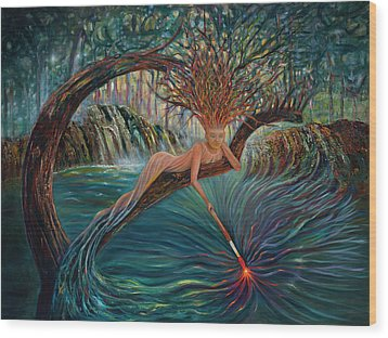 Deliverance Wood Print by Claudia Goodell