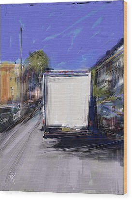 Delivery Wood Print by Russell Pierce