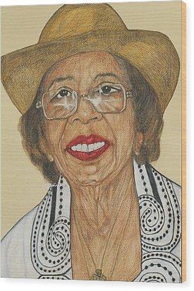 Della Willis Portrait Wood Print