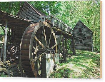 Dellinger Mill Wood Print by Alan Lenk