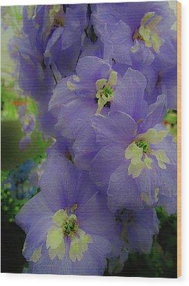 Delphinium Blues Wood Print