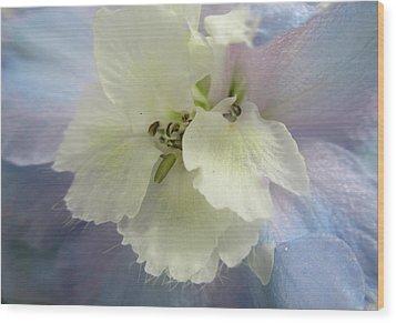 Delphinium Macro Wood Print