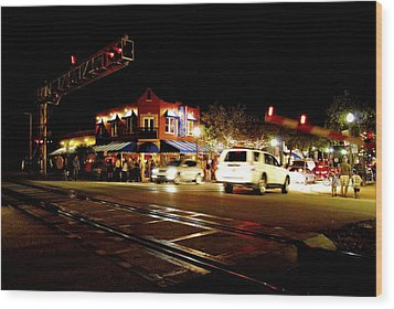 Delray Beach Railroad Crossing Wood Print