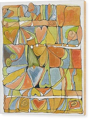 Delusions Of The Heart Wood Print by Linda Kay Thomas