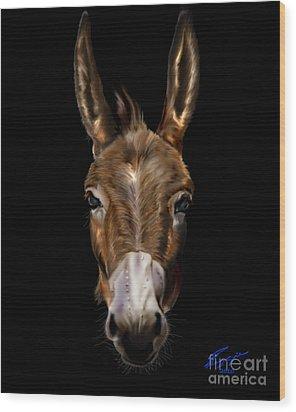 Dem-donkey Wood Print by Reggie Duffie