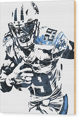 Demarco Murray Tennessee Titans Pixel Art Wood Print by Joe Hamilton