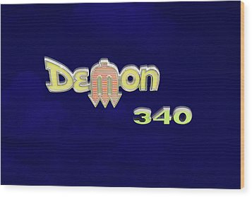 Wood Print featuring the photograph Demon 340 Emblem by Mike McGlothlen