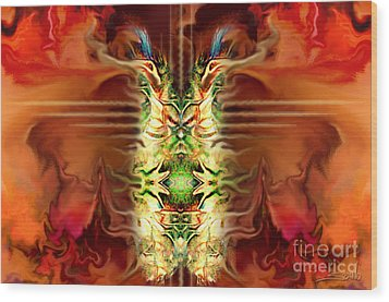 Demon Column By Spano Wood Print by Michael Spano