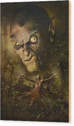 Demonic Evocation Wood Print