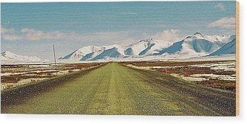 Dempster Highway - Yukon Wood Print by Juergen Weiss