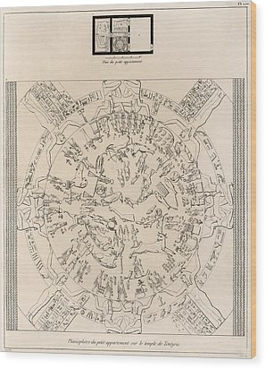 Dendera Zodiac From The Temple Of Hathor Wood Print by Humanities And Social Sciences Libraryasian And Middle Eastern Division