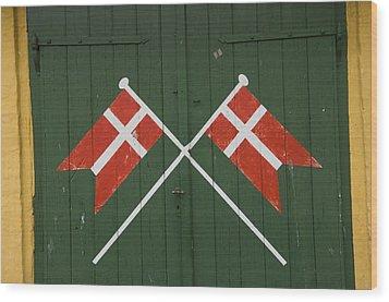 Denmark, Dannebrog, Danish Flag Wood Print by Keenpress