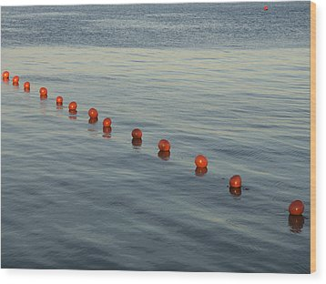 Denmark Red Safety Balls Floating Wood Print by Keenpress