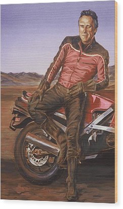 Dennis Hopper Wood Print by Bryan Bustard